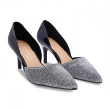 Giày cao gót khoét hông kim tuyến S30043 Girlie màu bạc