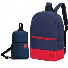 Combo balo du lịch Glado classical BLL007 (xanh phối đỏ) + túi messenger DCG029 (xanh dương)
