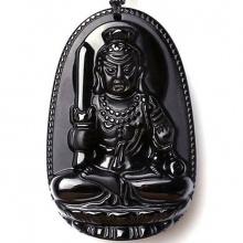 Mặt dây chuyền Phật bản mệnh bất động minh vương đá hắc ngà nhí BM01D7