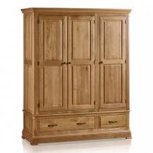 Tủ quần áo 3 cánh Canterbury gỗ sồi 1m4