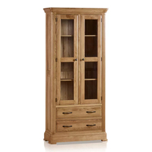 Tủ trưng bày 2 cánh kính Canterbury gỗ sồi