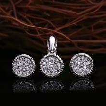 Bộ trang sức bạc Hudon Circle