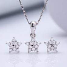 Bộ trang sức bạc Evans Star