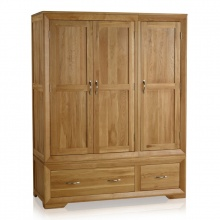 Tủ áo 3 cánh Bevel gỗ sồi - IBIE