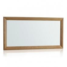 Gương treo tường Bevel gỗ sồi
