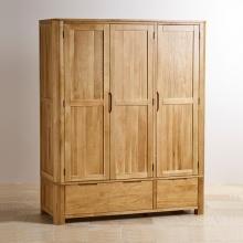 Tủ quần áo 3 cánh Romsey gỗ sồi 1m4
