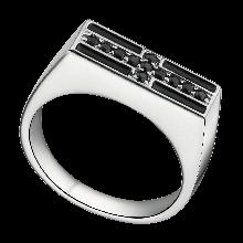 Nhẫn nam bạc đính đá màu đen PNJSilver ZT00K000060