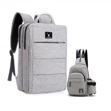 Combo balo unisex Hàn Quốc và túi đeo chéo tiện dụng Praza - BL161DC111