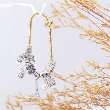 Opal - Vòng tay charm hợp kim xi vàng tặng kèm dây chuyền bạc 250.000đ _T12