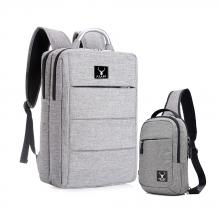 Combo balo công sở & túi đeo messenger cao cấp Praza - BL161DC112