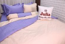 Bộ vỏ chăn ga gối cotton satin Ai Cập Julia (bộ 5 món có vỏ chăn)180x200x25-550BM18
