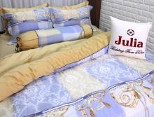 Bộ vỏ chăn ga gối lụa tencel tơ tằm Hàn Quốc Julia siêu mát mịn (bộ 5 món có vỏ chăn)-836BM18