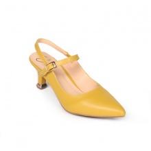 Giày nữ, giày cao gót kitten heels Erosska đế nhọn cao 5 cm phối dây tinh tế thời trang EH018 (YE)