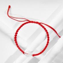 Vòng tay thắt dây đỏ may mắn đá thiên nhiên