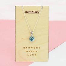 Opal - Dây chuyền bạc kèm mặt bạc đính đá theo tháng sinh _ tháng 12_ T01