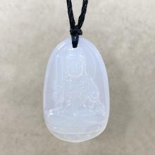 Mặt dây chuyền Phật bản mệnh bất động minh vương mã não trắng BM06C7