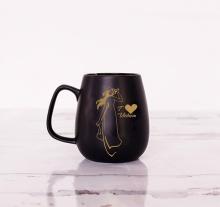 Cốc trà đen cô gái áo dài 0.3L/SSC013A7