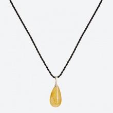 Mặt dây chuyền giọt nước thạch anh tóc vàng Ngọc Quý Gemstones