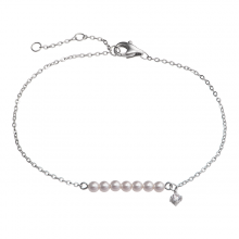 Lắc tay bạc PNJSilver Spring Vibe đính ngọc trai 92574.200