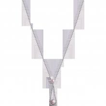 Dây cổ bạc PNJSilver Spring Vibe đính ngọc trai 92424.200