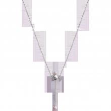 Dây cổ bạc PNJSilver Spring Vibe đính ngọc trai 92575.200