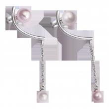 Bông tai bạc PNJSilver Spring Vibe đính ngọc trai 92564.200