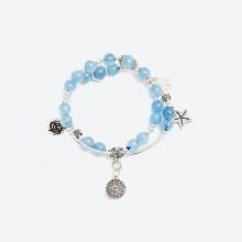 Vòng tay cặp hải lam ngọc phối ngôi sao bạc Ngọc Quý Gemstones