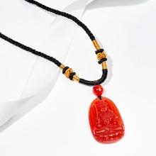 Mặt dây chuyền phong thủy bất động minh vương mã não đỏ tuổi dậu Ngọc Quý Gemstones