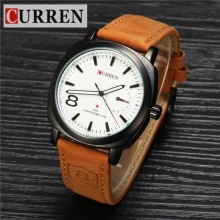 Đồng hồ nam Curren siêu bền chống thấm nước CR001 nâu trắng