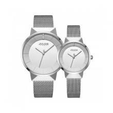 Đồng hồ cặp chính hãng Julius Hàn Quốc JA-1104A (Bạc)
