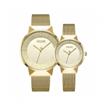 Đồng hồ cặp chính hãng dây thép Julius Hàn Quốc JA-1104B (Vàng)