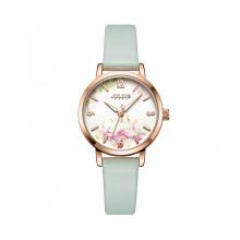 Đồng hồ nữ dây da Hàn Quốc Julius chính hãng JA-1102C ( Xanh )