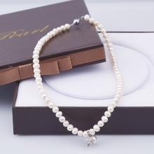 Opal - Vòng cổ ngọc trai trắng tự nhiên_T01