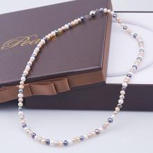 Opal - Vòng cổ ngọc trai tứ quý 6li _T01