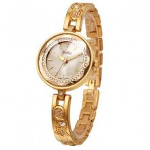 Đồng hồ nữ dây kim loại chính hãng Julius Hàn Quốc ja-624c (vàng)