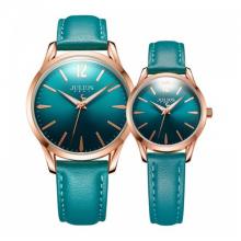 Đồng hồ cặp Julius Hàn Quốc ja-983 dây da (xanh)