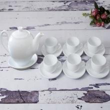 Bộ trà tròn trắng 0.7L SSA003A