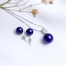 Bộ trang sức bạc Blue Pearl