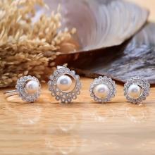 Bộ trang sức bạc ngọc trai Sunny - Eropi Jewelry
