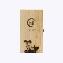 Hộp quà tết trà tâm giao 2 gồm trà ô long nhân sâm và hồng trà