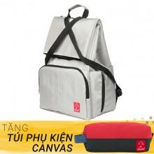 Balo du lịch thời trang Glado Wander GWD002 (màu xám) - Tặng túi phụ kiện canvas