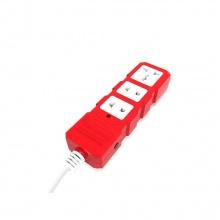 Ổ cắm công suất lớn Điện Quang ĐQ ESKHP 3RW 2M (3 lỗ, màu đỏ trắng, dây dài 2m)
