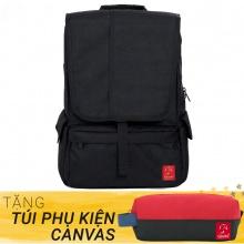Balo du lịch thời trang Glado Wander GWD003 (màu đen) - Tặng túi phụ kiện canvas