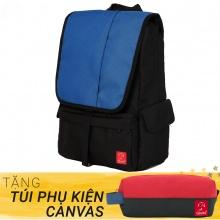 Balo du lịch thời trang Glado Wander GWD003 (màu xanh) - Tặng túi phụ kiện canvas