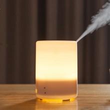 Máy xông tinh dầu, phun sương siêu âm tạo độ ẩm không khí hình trụ có đèn phong cách Hàn Quốc 300ml - EM081