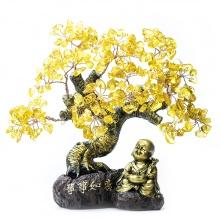 Cây Tài Lộc - Cây đá phong thủy thạch anh vàng tự nhiên Vạn Sự Như Ý VietGemstones