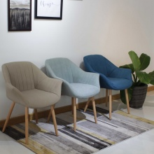 Ghế bọc vải chân sắt giả gỗ Furnist Dream