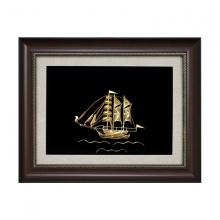 Tranh thuyền buồm phong thuỷ mạ vàng - Biểu tượng thuận buồm xuôi gió