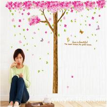 Decal dán tường cây đào hồng PK365