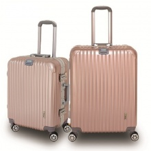 Bộ 2 vali khung nhôm cao cấp Trip A03 size 52cm+62cm vàng hồng